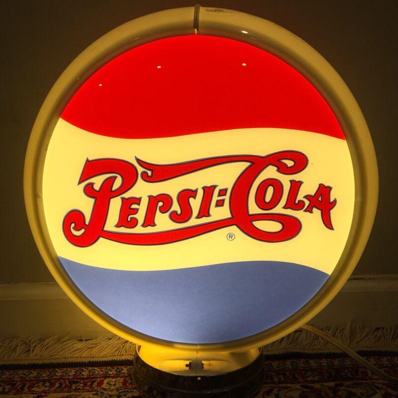 Pepsi Cola Lamp Lighted Advertising Round Antique Vintage Original Globe Sign