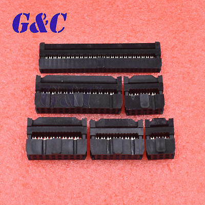 10pcs Fc 6pin-50pin Idc 2.002.54mm Pitch Socket Connector Female Header