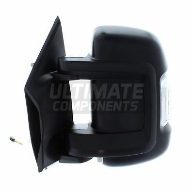 For Fiat Ducato Van 2006-2014 Electric Short Arm Wing Mirror Black Right OS