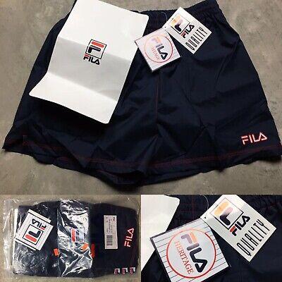 90s VTG FILA BEACH Volleyball RUNNING Unlined L Shorts TENNIS Glanz Logo Silky ()