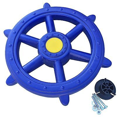 Steuerrad blau Schiffslenker für Spielturm Piratenschiff Lenker blaues Lenkrad