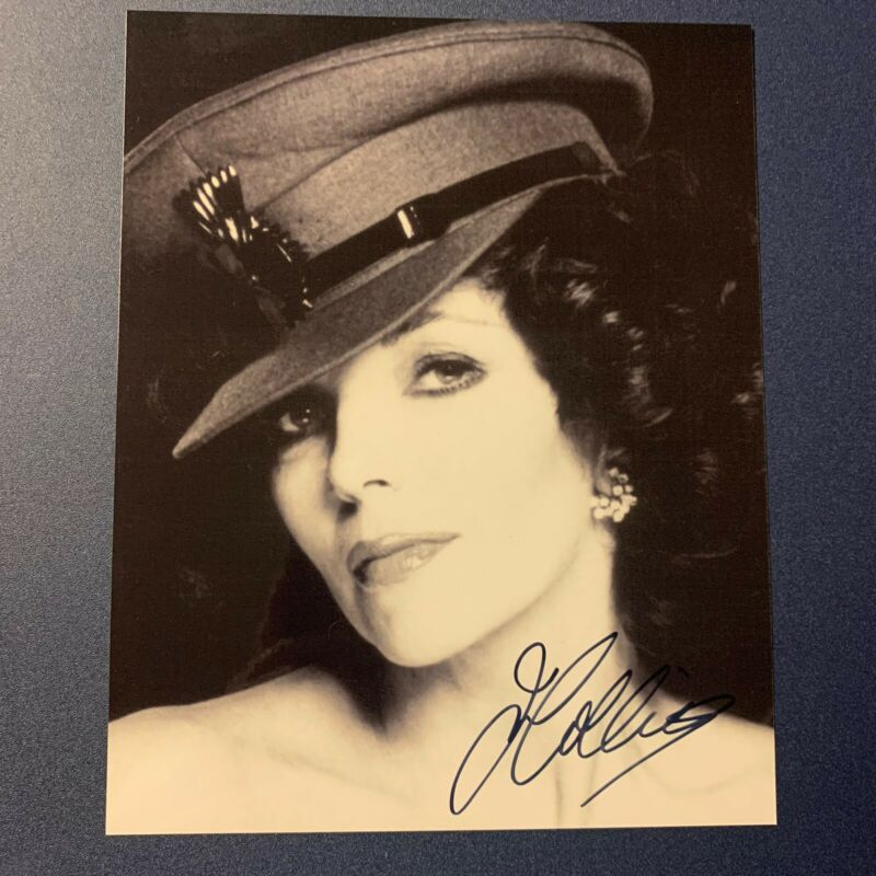 JOAN COLLINS SIGNED 8x10 PHOTO SEXY ACTRESS AUTOGRAPHED DYNASTY HOT RARE COA