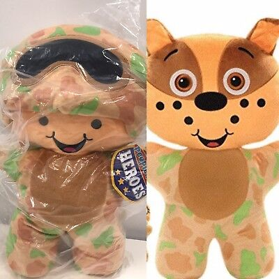 People Pet Heroes Dog/Soldier Stuffed figure Brand NEW in the bag 2-stuffed toys