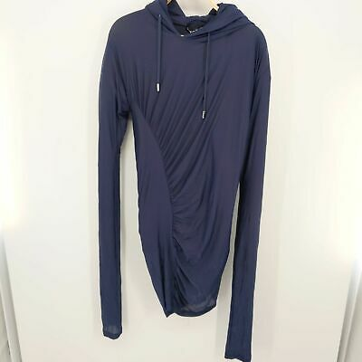 Y/Project Layered Hoodie Khaki Blue Size Small Hooded