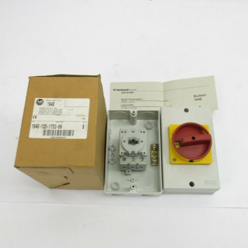 Allen Bradley 194E-Y25-1753-6N Disconnect Switch - Red - New