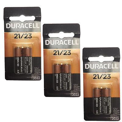 3x 2pk Duracell MN21 Alkaline 12V Battery A23, GP23A, L1028, LRV08, 23AE, V23GA