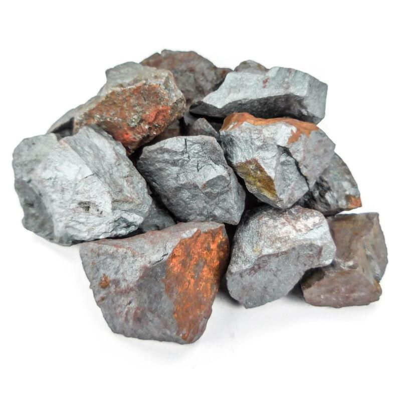 Hematite (3 Pcs) Raw Crystal Chunk - Natural Iron Stone Display Piece (CR35)