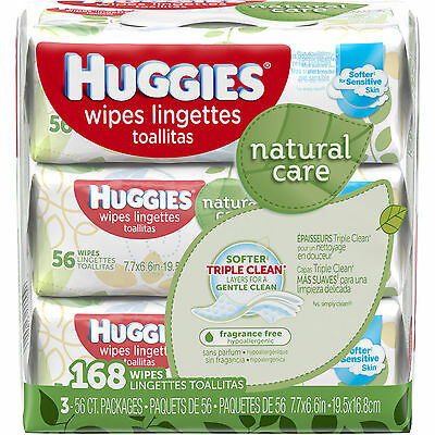 Huggies Natural Care Baby Wipes, Refill, Unscented, Hypoallergenic