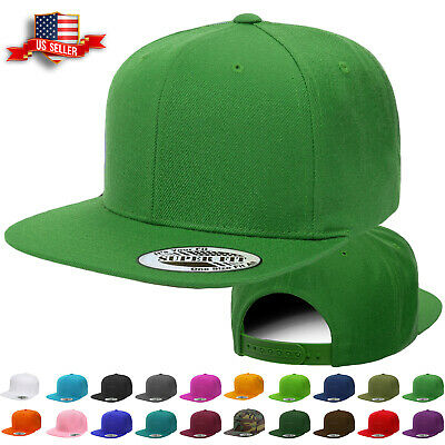 Snapback Hat Classic Hip Hop Style Visor Plain Baseball Cap Solid Blank Hats New - Caps Hats