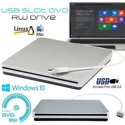 External DVD Drive USB CD Player RW Burner Laptop PC iMAC MacBook pro air