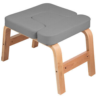 Yoga Inversion Bench Headstand Chair Beech Cotton Home Sturd