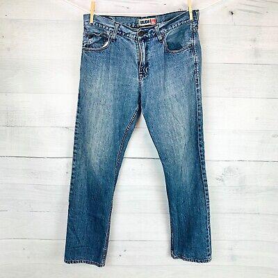 Quicksilver Mens Straight Leg Jeans Medium Wash Size 34 Regular
