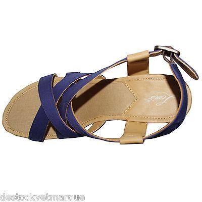 LEVI'S chaussures nu pied talon compensé bleu et jaune femme