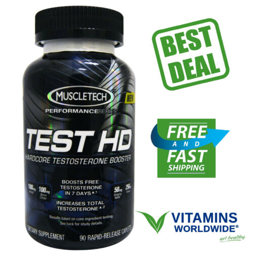 MUSCLETECH TEST HD Hardcore Muscle Building Testosterone Booster Supplement