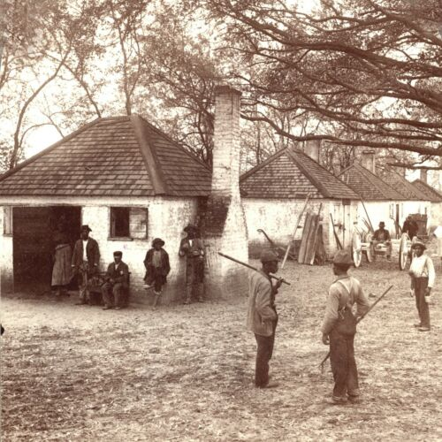 1903-Black History-Cabins Where Slaves were Raised for Market-The Hermitage