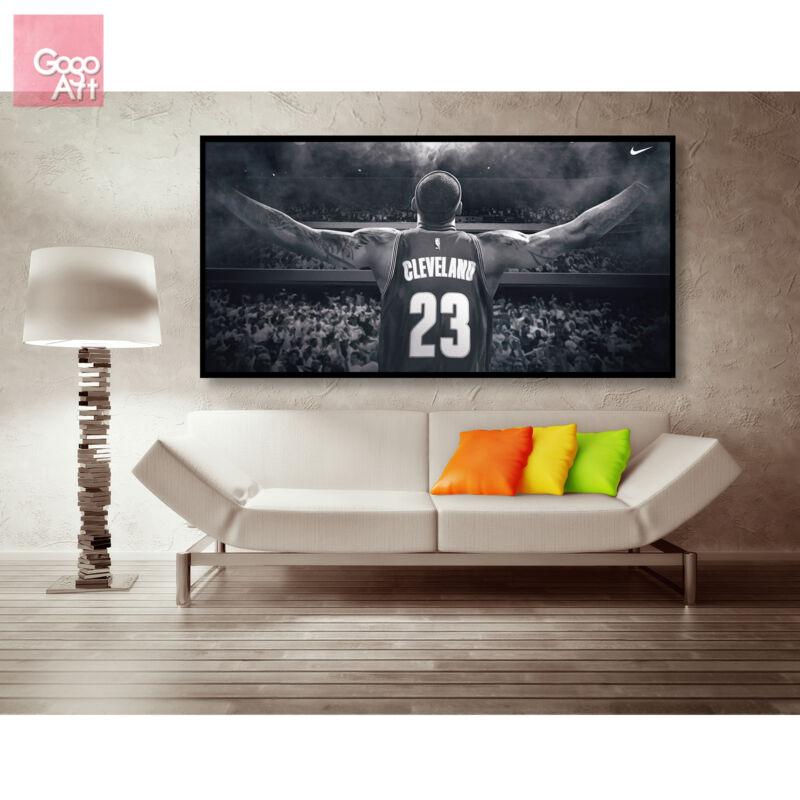 Canvas print wall art panorama photo big poster nba LeBron James wing Cavaliers