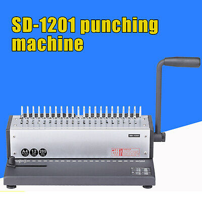 Paper Spiral Coil Punching Binding Machine 21 Holes 200 Sheet Of A4 Papers