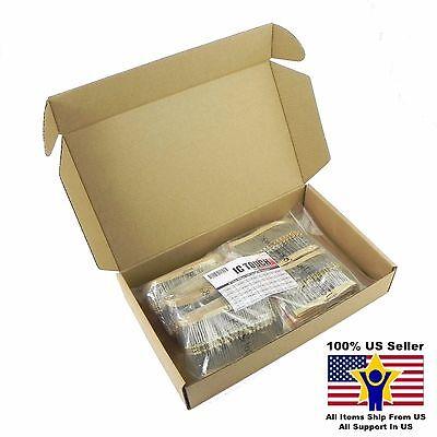 50value 2000pcs 12w Carbon Film Resistor Assortment Kit Us Seller Kitb0128