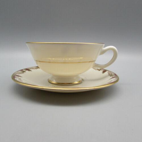 Lenox Fine China Essex - Maroon Cup & Saucer Set