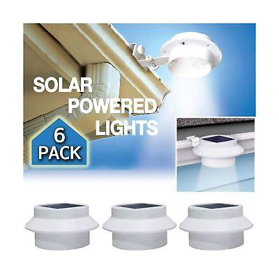 YINGHAO 6 Pack Deal -3 LED Outdoor Solar Gutter Lights Solar