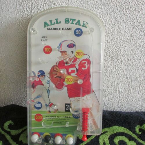 Nice, Vintage Wolverine NFL All Star Marble Game, Portable Pin Ball Game.