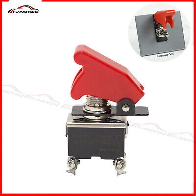 Heavy Duty 20a 125vac On-off Dpst 2 Position Toggle Switch W Flip Safety Cover