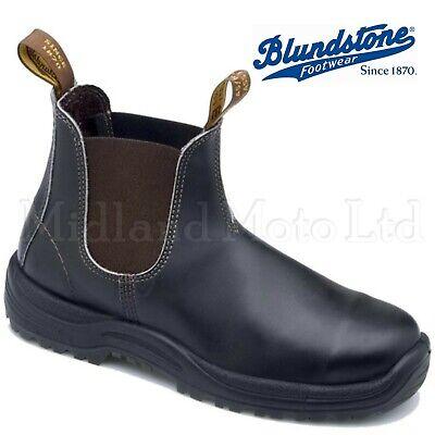 Blundstone Brown Steel Toe Cap Dealer Slip On Safety Boots, Chelsea 192  Brown Steel Toe Slip