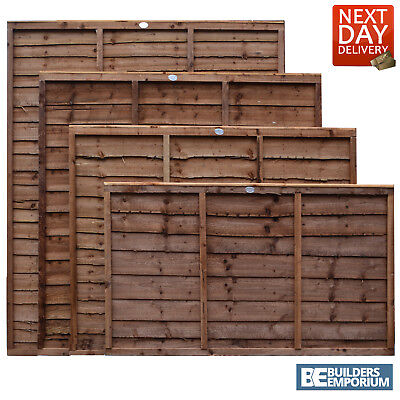 Wooden Garden Lap Fence Panels Overlap Fencing Panel 6ft 5ft 4ft 3ft