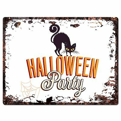 PP1920 HALLOWEEN PARTY Plate Chic Sign Home Store Halloween Decor Gift