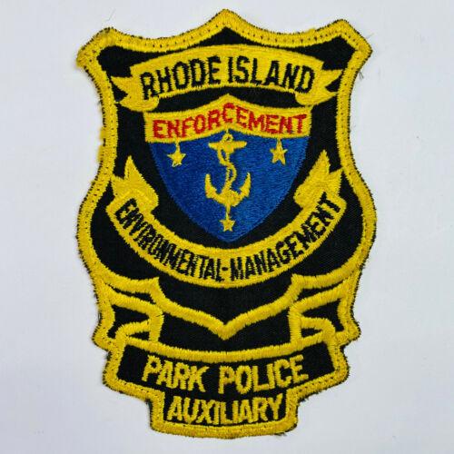 Rhode Island Park Police Auxiliary Enforcement Environmental Management Patch A1