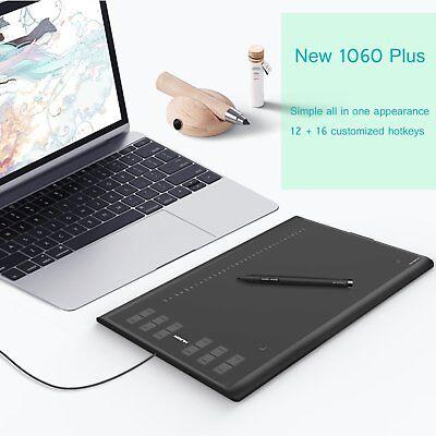 """Huion New 1060 Plus Grafiktablett Kunst Zeichnung Karte Graphic Tablet 10x6.25"""""""