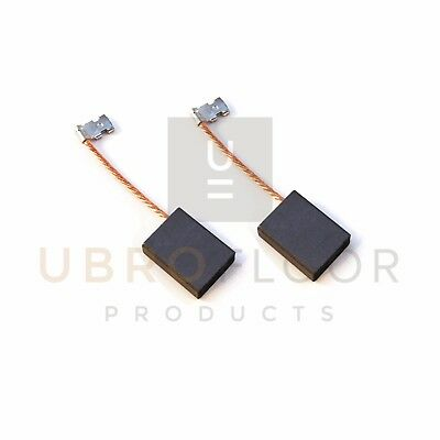 40583a Carbon Motor Brush With Wires For Clarke B2 Edger - Set Of 2