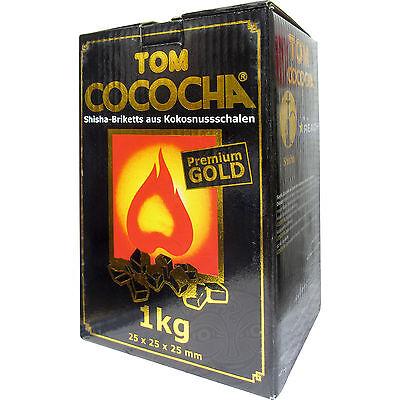 Tom Cococha Kokoskohle Coco Gold Shishakohle Naturkohle Shisha Kohle Würfel 1 Kg