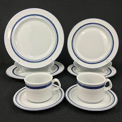 Dansk New Scandia TWO Dinner Plates TWO Salad Plates TWO Cups & Saucers