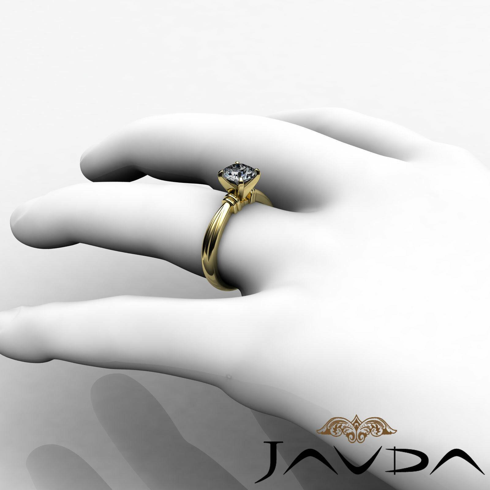Round Solitaire Natural GIA H Color VVS2 Diamond Women's Engagement Ring 1 ctw. 9