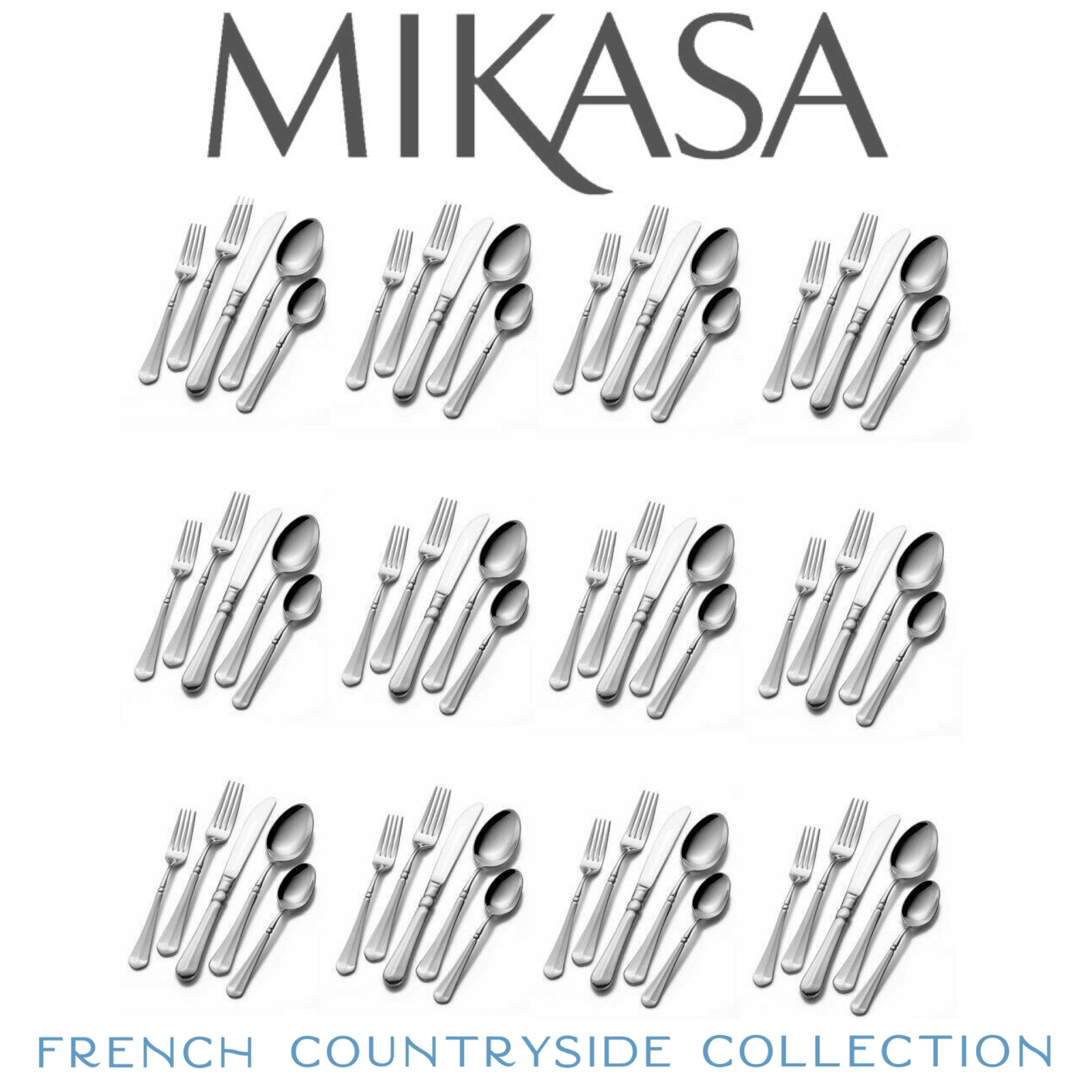 Mikasa 5112172 French Countryside 65-Piece 18/10 Stainless S