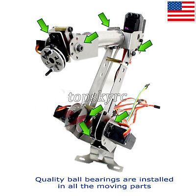 6 Dof Mechanical Robotic Arm Clamp W 6 Pcs Servos For Robot Smart Car Us Stock