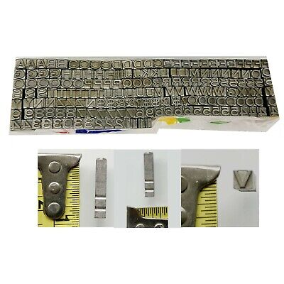Kingsley Kwikprint Stamping Machine Type Letter Set Numbers Capital Letters