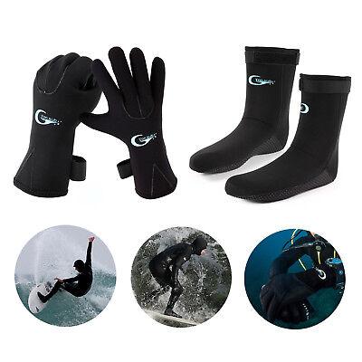 3mm Skid-proof Neoprene Wetsuit Gloves Socks Swimming Diving Surfing Snorkeling