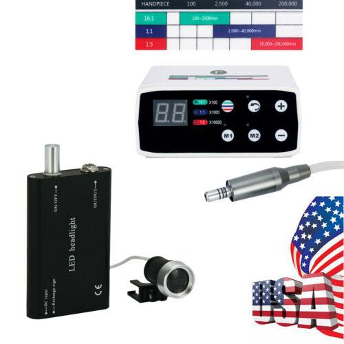Dental Brushless Electric LED Micro Motor 100-240V / Medical LED Head Light