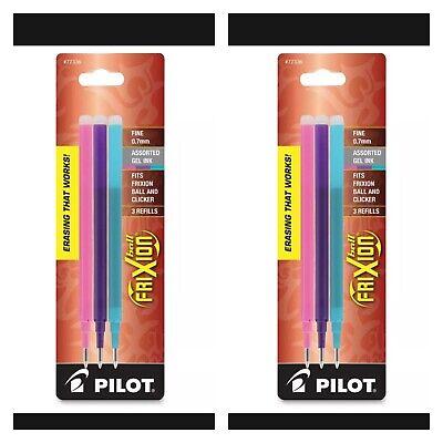 Pilot Gel Ink Refills Lot Of 2 For Frixion Erasable Gel Pen 0.7mm A3-count Qty6