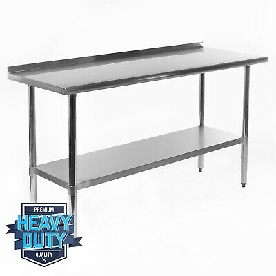 Open Box - Stainless Steel Kitchen Restaurant Work Prep Table Backsplash 24x60