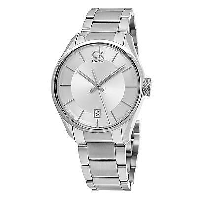 Calvin Klein Men's Masculine Silver Dial Stainless Steel Quartz Watch K2H21126