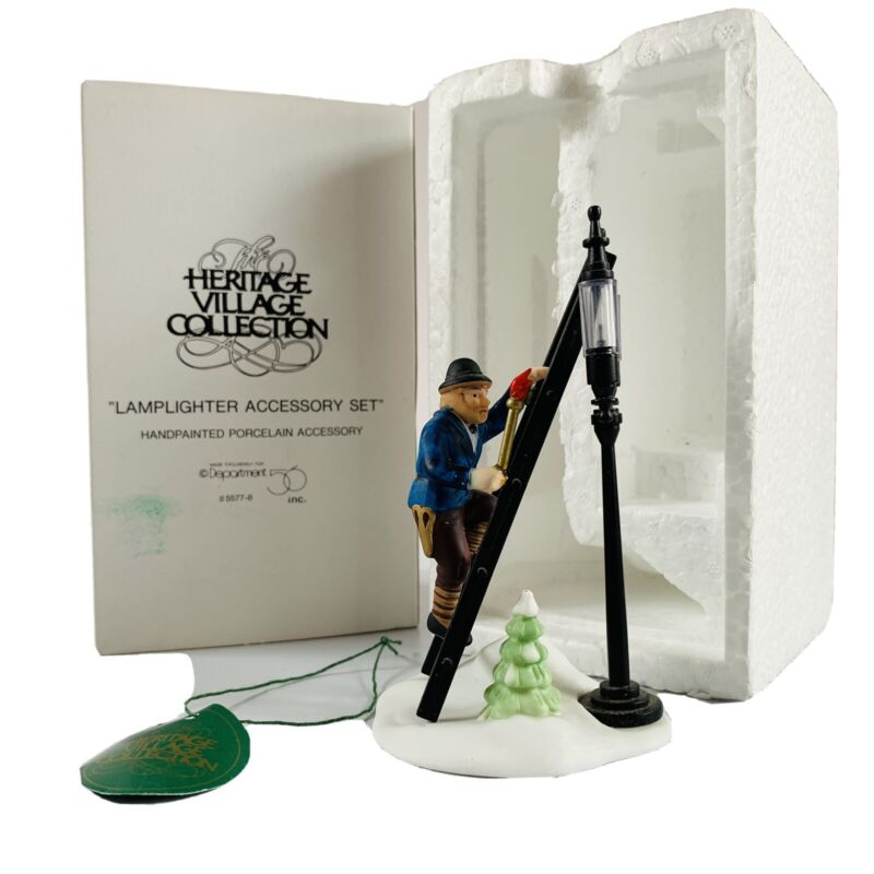 Department 56 Lamp Lighter Accessory Set Heritage Village 5577-8 Dickens in Box