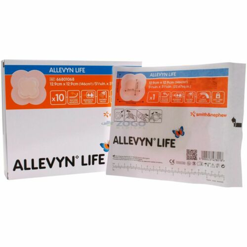 "Allevyn Life Foam Dressings 5"" x 5"" - Box of 10 - REF:  66801068"