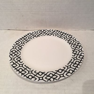 CIROA Bone China MESSE Salad Plate Black & White Geometric Petal Design RARE Black And White China