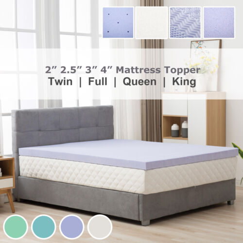 Topper-Twin Full Queen King Comfort Gel Memory Foam Mattress