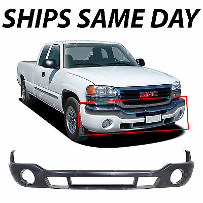 NEW Primered Lower Bumper Cover Valance for 1500 2500 HD Sierra 2003-2007 W/ Fog