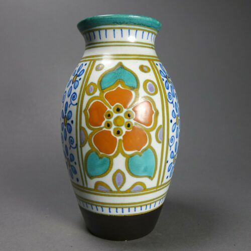 Vintage Beautiful Gouda Holland Vase 7 Inches Tall