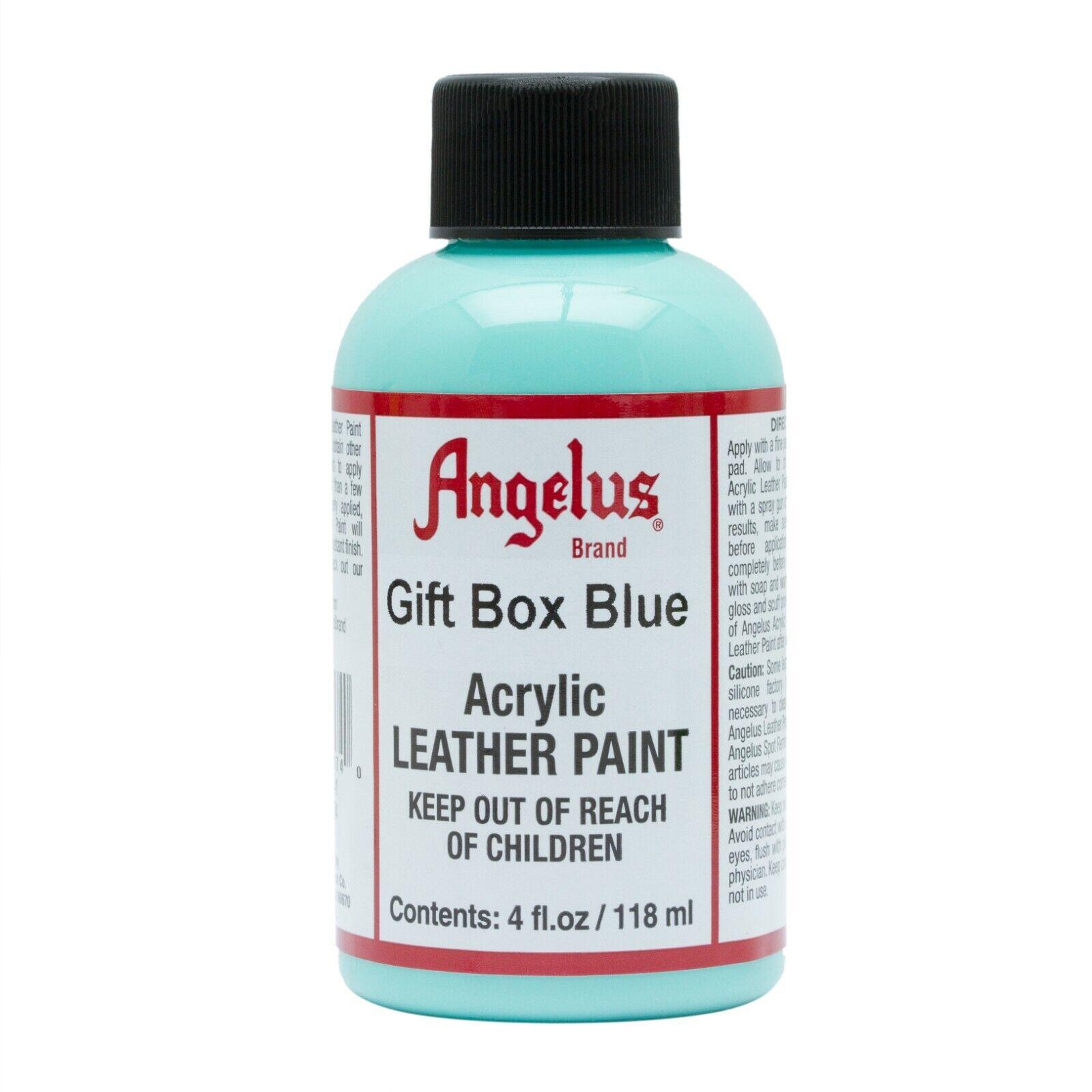 Angelus Acrylic Leather Paint Gift Box Blue 4oz Crafts